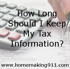 How long should I keep my tax information?