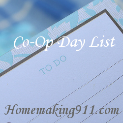 Co-Op Day List