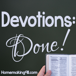 Devotions: Done!