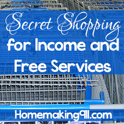 Secret Shopping for Income and Free Services